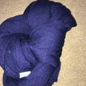 a cute deep violet scarf
